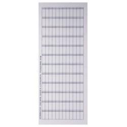 N63 - foglio da 144 cartellini 6 x 16