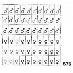 S76 - targhette maschio/femmina